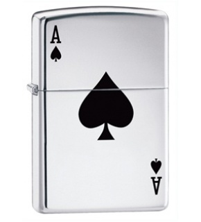 ZIPPO 24011 LUCKY ACE HIGH POLISH CHROME